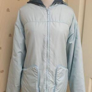 NIKE ICE BLUE HOODED JACKET / COAT - L / XL